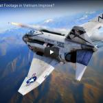 How did Aerial Combat Footage in Vietnam Improve?