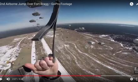 82nd Airborne Jump Over Fort Bragg – GoPro Footage